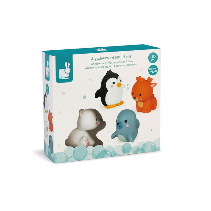 Janod - Fürdőjáték - 4 sarkvidéki állat