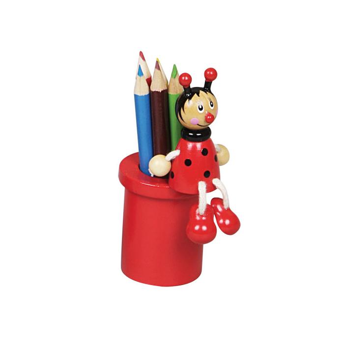 Fajáték - Ceruzatartó ceruzával - katicás