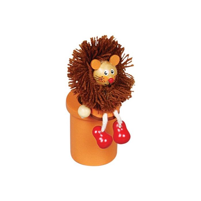 Fajáték - Ceruzatartó ceruzával - oroszlános