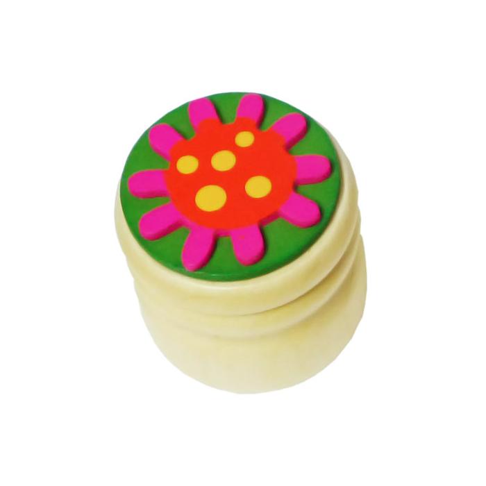 Fajáték - Tejfogtartó - virágos