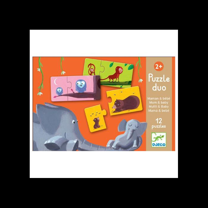 Djeco - Párosító puzzle - Mama-baba