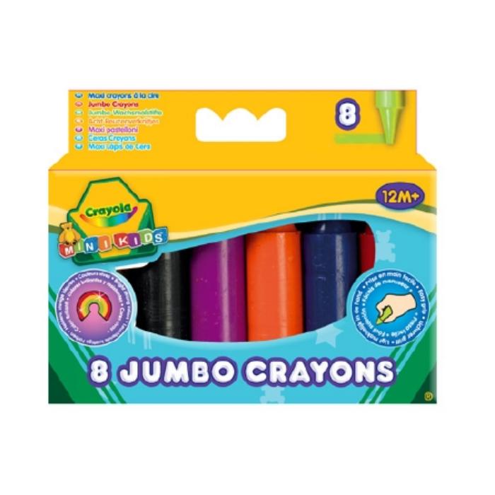 Crayola - Óriás színes zsírkréta - 8 db-os
