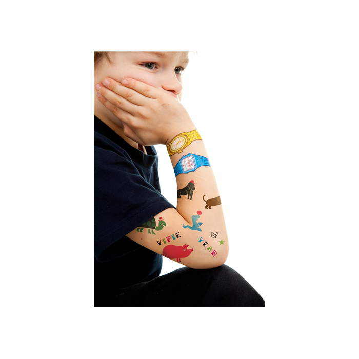Donkey - Wild Animals - Lemosható tetoválás