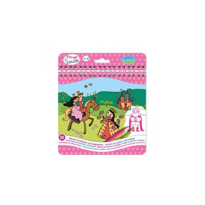 Aladine - Nyomdázz és színezz - Hercegnők