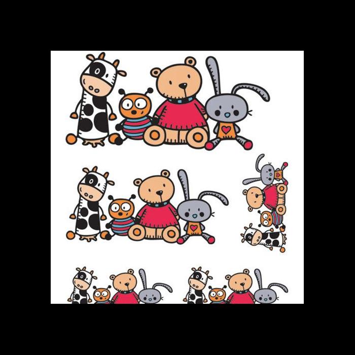 Aladine - Matrica készlet textilre - Kis barátok