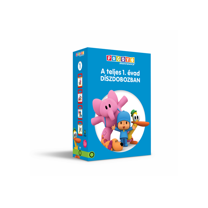 e1d53c6f8956 POCOYO DVD 1-2-3-4, A teljes 1. évad díszcsomagolásban - KEDDshop