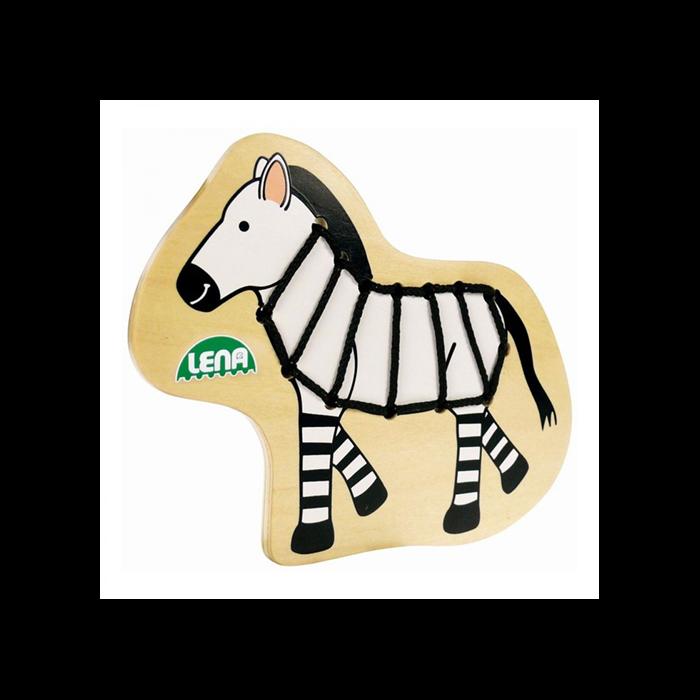 Lena - Zebra fűzős játék