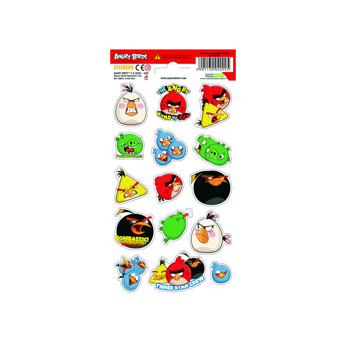 Angry Birds - hosszúkás matrica