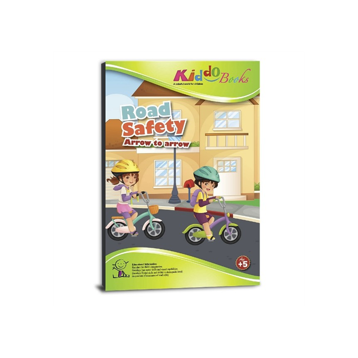 Kiddo Books - Lépésről lépésre színező - Biztonságos közlekedés
