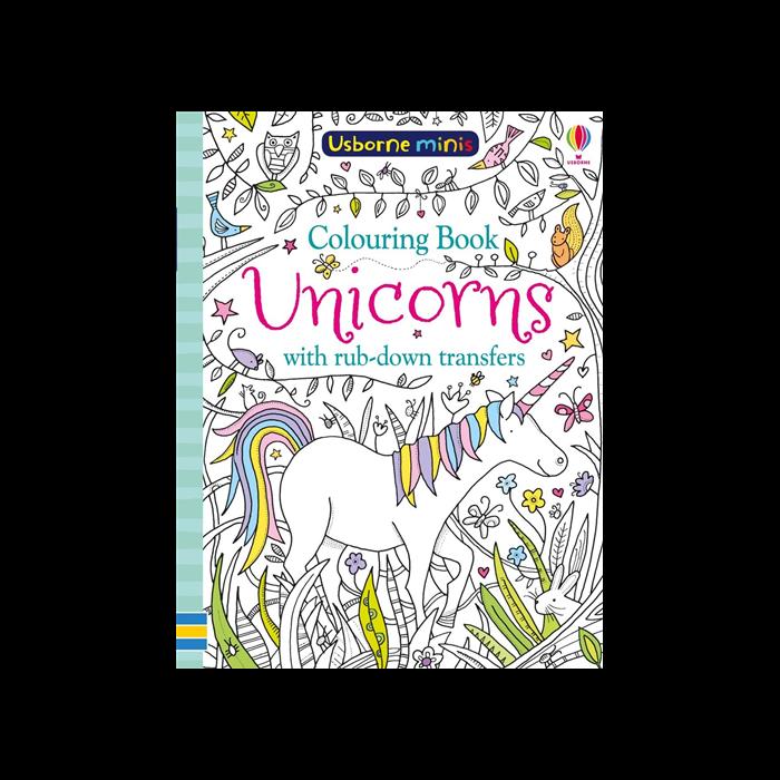 Colouring Book Unicorns with rub-down transfer