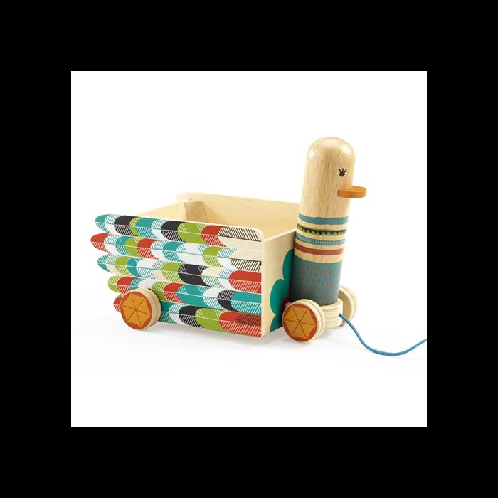 Djeco - Húzható játék - Leni lúdanyó