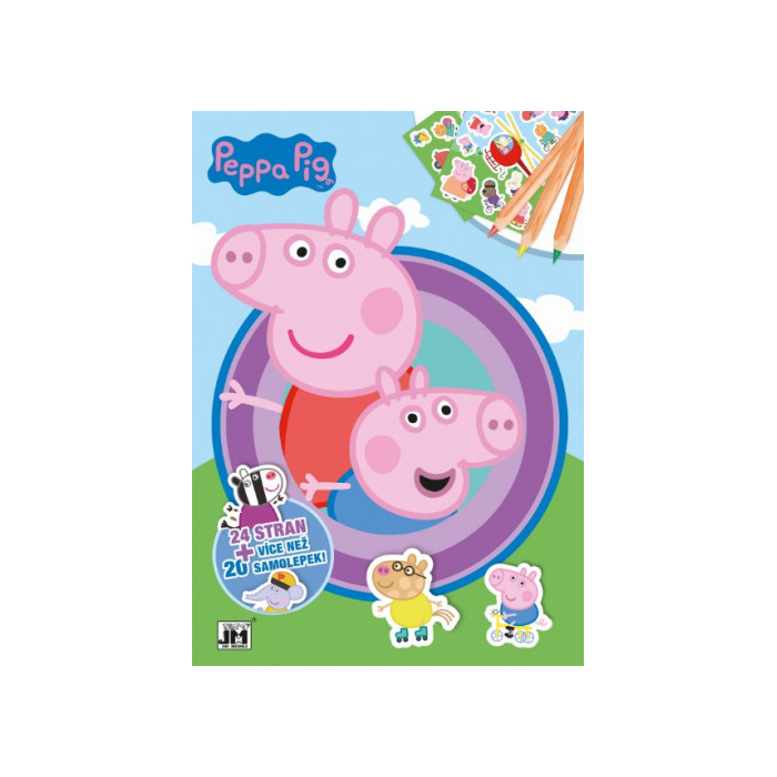 Peppa malac - Foglalkoztató könyv matricákkal
