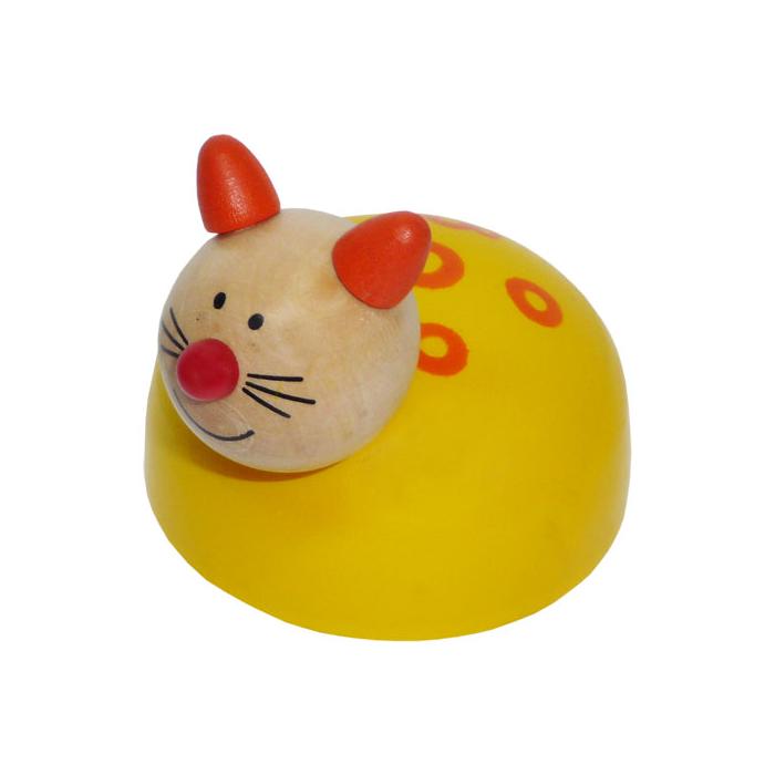 Fajáték - Lendkerekes állatfigura - cica