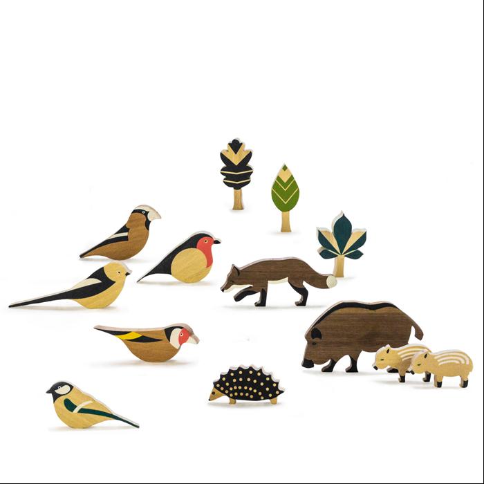 Eperfa - Hegyvidéki állatok és fák szett - Építő és szerepjáték
